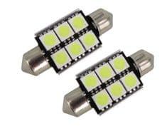M-LINE žarnica LED 24V C5W 36mm 6xSMD 5050, bela, par