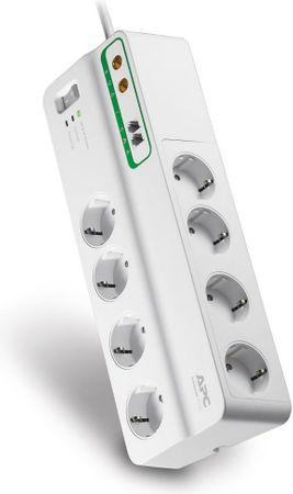 APC Home/Office SurgeArrest PMF83VT-FR, 8 csatlakozóval, telefonvonal védelemmel és koaxiális vonal védelemmel