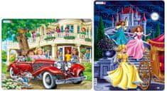 LARSEN Puzzle Koleżanki w kabriolecie i Trzy księżniczki