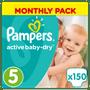 2 - Pampers Pieluchy Active Baby 5 Junior (11-16 kg) 150 sztuk