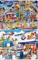 LARSEN Puzzle szett, Kórház és Tűzoltóság