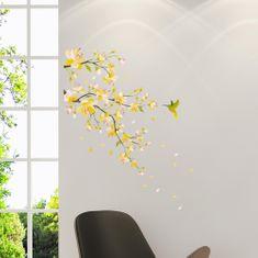 Crearreda zidna naljepnica Žuta grana M