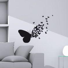 Crearreda zidna naljepnica Crni leptiri M