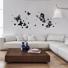 Crearreda 3D zidna naljepnica Crni leptiri, L