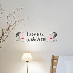 Crearreda zidna naljepnica natpis Love is, S