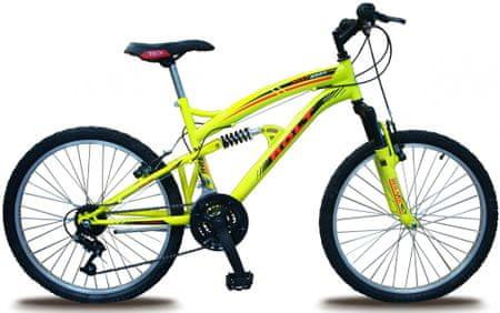 """Bolt rower dziecięcy 24"""" z pełnym zawieszeniem yellow"""