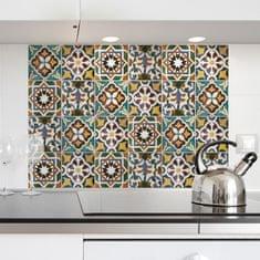 Crearreda kuhinjski panel Zeleni vzorec
