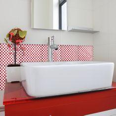 Crearreda mozaik Rdeče-beli