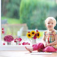 Crearreda dekoracija za prozore vrč sa cvijećem, S