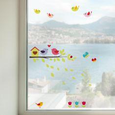 Crearreda dekoracija za prozore Ptičice na grani, M