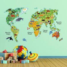 Crearreda dječja dekoracija Zemljovid svijeta XL