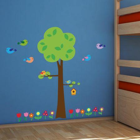 Crearreda dječja dekoracija Drvo i ptičice XL
