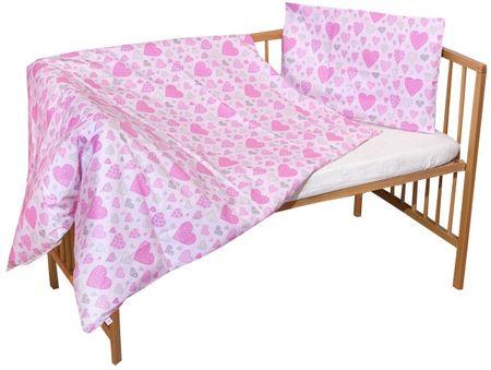 COSING 2-delni komplet posteljnine SLEEPLEASE, roza srčki