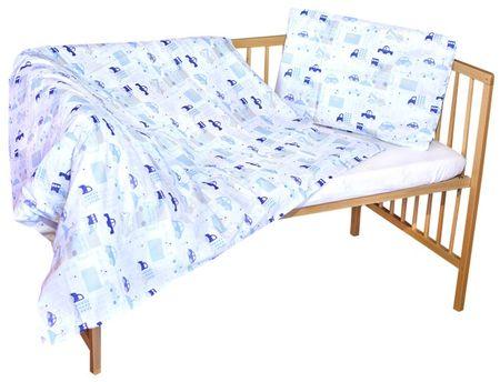 COSING COMFORT Gyermek ágyneműszett, Autós, Kék