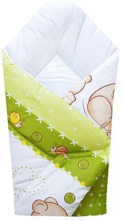 "COSING odeja ""Wrap"" 80x80 cm, medved, zelena"