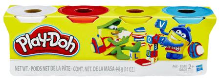 Play-Doh Zestaw 4 tub ciastoliny B5517