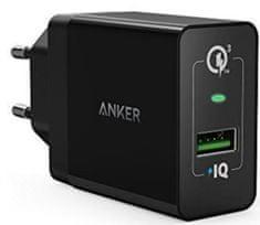 Anker zidni punjač PowerPort+ 1 QC 3.0 + MicroUSB kabel, crni
