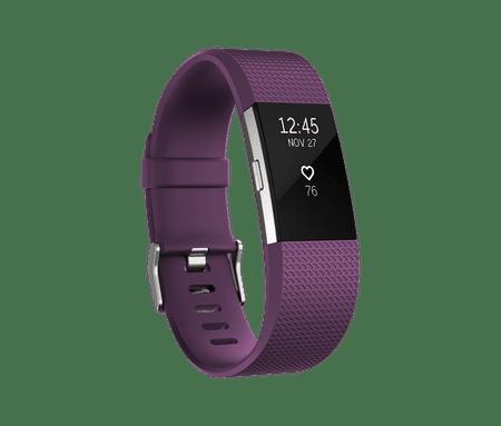 Fitbit aktivna zapestnica Charge 2, Plum/Silver, Large