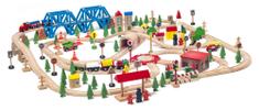 Woody super železnica in vlak v leseni škatli, 174 kosov