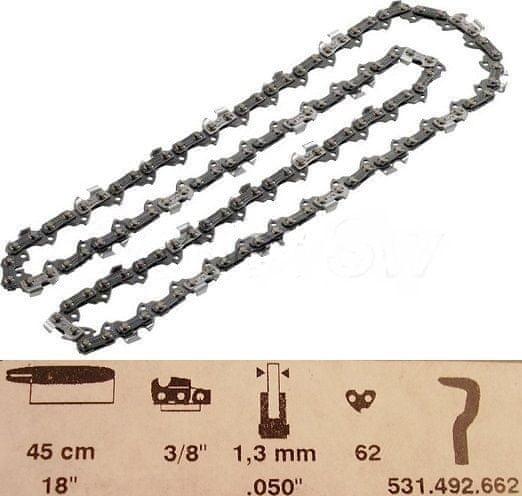 "Dolmar Pílová reťaz 45cm 3/8"" 1,3mm (531492662)"