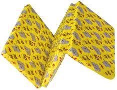 Kvalitex Skladací matrac do postieľky, sloníčatá žltá