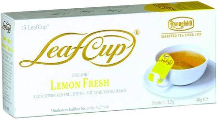 Ronnefeldt Herbata LeafCup Lemon Fresh BIO 15 szt.