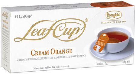 Ronnefeldt Herbata LeafCup Cream Orange 15 szt.