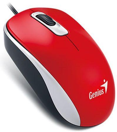 Genius DX-110 Vezetékes egér, USB, Piros