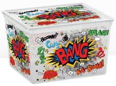 Kis kutija za pohranjivanje C-box Comics Cube, 27 l