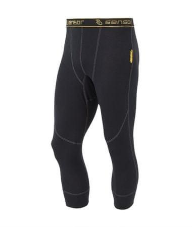 Sensor Double Face EVO Férfi aláöltözet nadrág, fekete, XXL