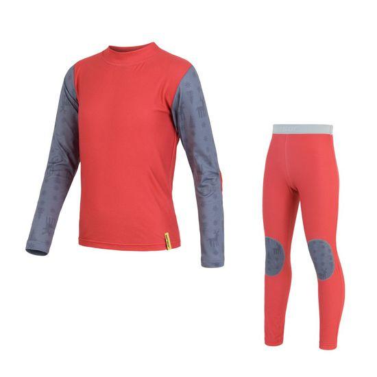 Sensor Flow Set detské tričko dl.ruk.+spodky Červená/Sobi 110