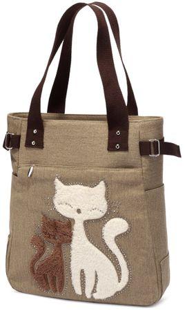 Kaukko torba Cutty Cat, smeđa