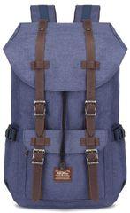 Kaukko vintage ruksak Hipster Bear, plavi