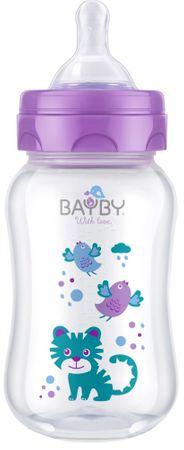 BAYBY BFB 6103 Antykolkowa butelka 250 ml 0m+, fioletowa