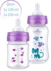 BAYBY Zestaw 2 butelek antykolkowych 0m+