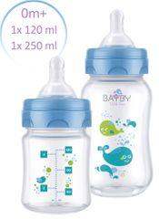 BAYBY Sada 2 kojeneckých lahví 0m+