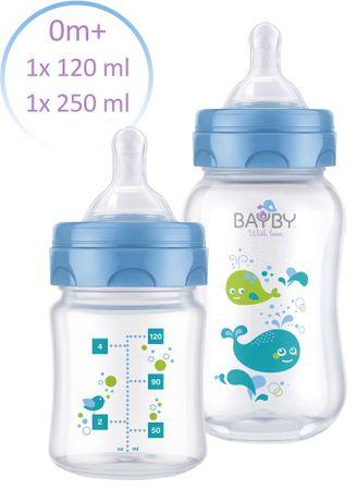 BAYBY Cumisüveg készlet, 2db, Kék