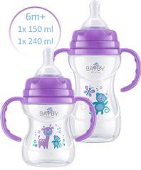 BAYBY Sada 2 kojeneckých lahví 6m+