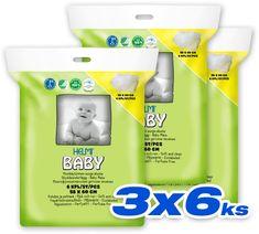 HELMI BABY prebaľovacia podložka 3x6 ks