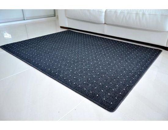 Vopi Kusový koberec Udinese antracit 80x150 cm