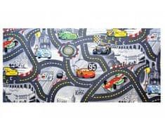 Vopi Dětský koberec The Wolrd of Cars 97 šedý 140x200 cm