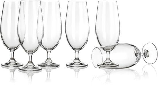 Banquet sklenice na pivo Leona 370 ml, 6 ks