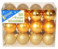 EverGreen Sada gulí 3 dekory 24 ks stříbrná