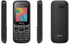 eStar GSM telefon A18 Dual Sim, črn