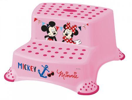 """keeeper Dwustopniowy podnóżek """"Mickey&Minnie"""", Pink"""