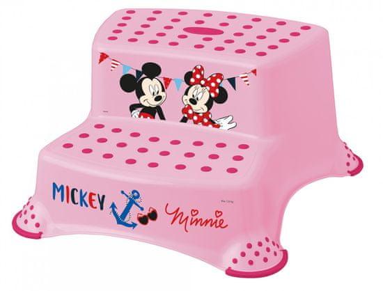 "keeeper Dvojstupienok k WC/umývadlu ""Mickey&Minnie"", Pink"