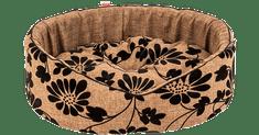 X-Pets pasja postelja Noir Brown, ovalna