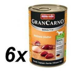Animonda Karma dla psa GRANCARNO Sensitiv z kurczakiem 6 x 400 g