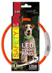 Dog Fantasy LED nejlon nyakörv narancssárga