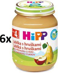 HiPP BIO Jablká s hruškami - 6x125g